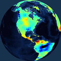 Globe icon / screenshot representing Ocean Surface Topography Measurement