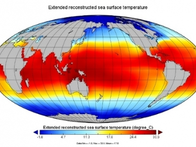 NOAA Smith and Reynolds Extended Reconstructed Sea Surface Temperature (ERSST)